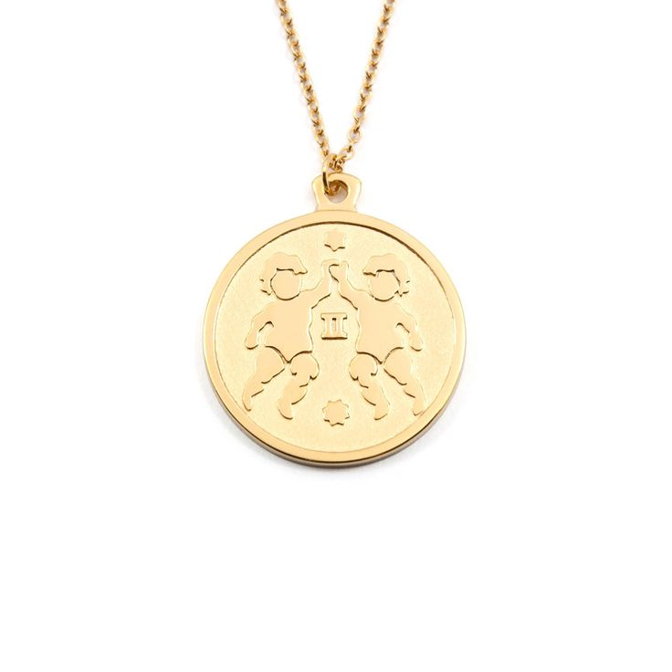 Gemini - zodiac sign necklace - stilnest Anna Saccone £64 (silver gold plated, small, 45cm)