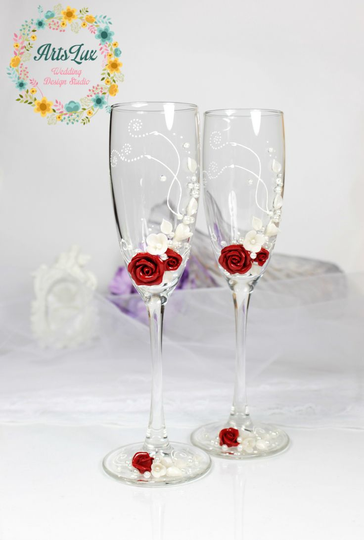 11 best NEW in my shop! Wedding champagne glasses. Wedding candles ...