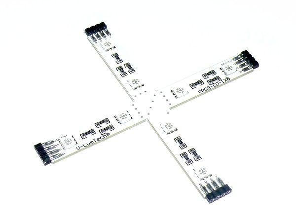Croisillon 8 led SMD 5050 pour Bandeau LED Rigide RGB 150° 12v DC