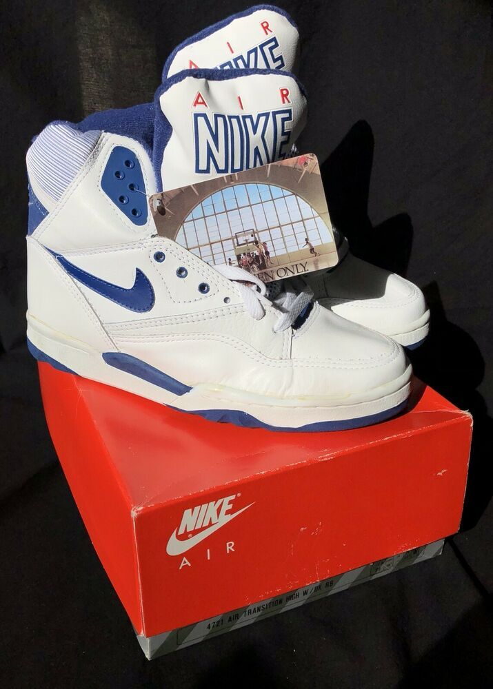 Nike Air Transition Vintage Women S Shoes White Royal Blue High Deadstock Us 7 5 Nike Athletic