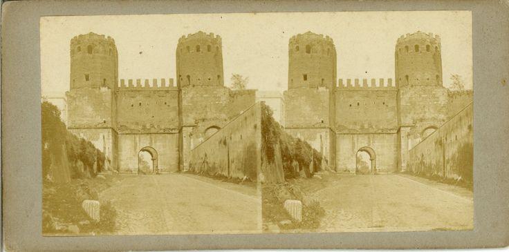 Italie, Rome La Porta San Sebastiano 1870