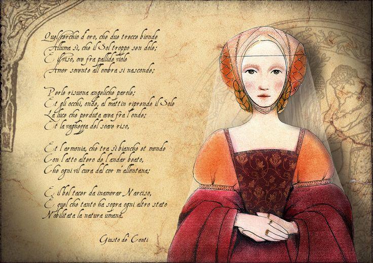 #BettinaBaldassari De amore. Pen + soft pastels + Photoshop. #illustration #art #poetry #graphics #renaissance