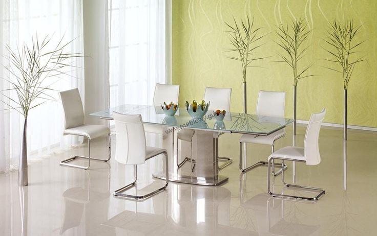 Komplet stołowy Alessandro to nowoczesny zestaw stołowy składający się z stołu oraz sześciu krzeseł.  Dostawa na terenie Polski naszym własnym transportem GRATIS.