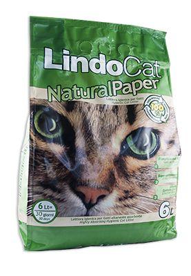 Lindocat Natural paper è una lettiera agglomerante naturale in carta riciclata priva di polvere. La lettiera super assorbente Lindocat Natural paper assorbe istantaneamente l'urina del gatto, formando dei solidi grumi, facilmente asportabili, che trattengono all'interno anche i batteri. 100% carta riciclata. Si smaltisce nel WC. Super agglomerante. Efficace controllo odori.