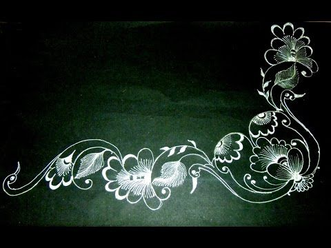 Bed Sheet Painting Designs Of Roses And For Corners By Premlata