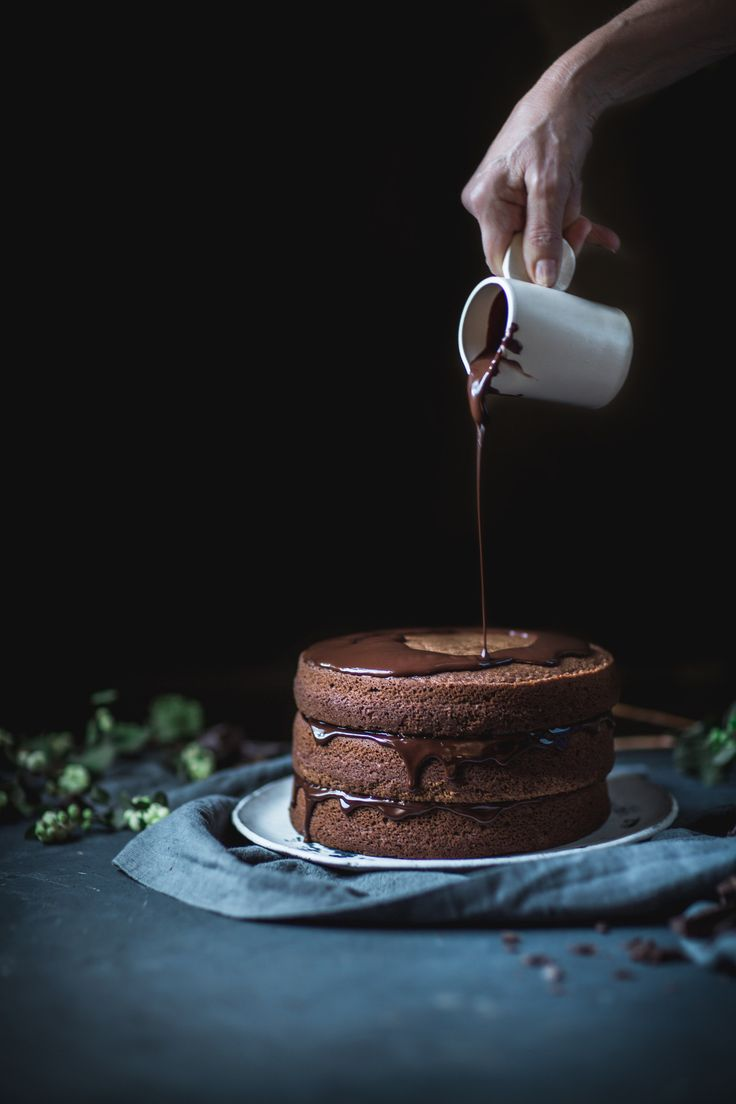 Chocolate Buttermilk Espresso Cake http://adventuresincooking.com/2017/10/chocolate-buttermilk-espresso-cake.html