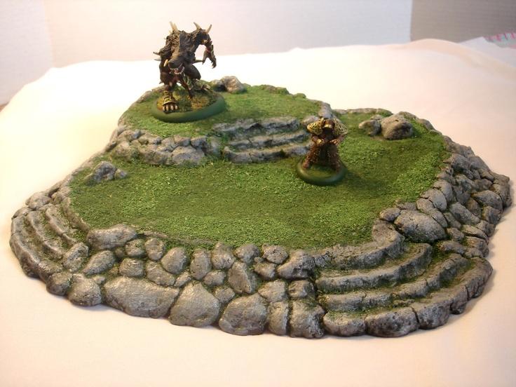 Miniature Terraced Hill (Large) Terrain. $30.00, via Etsy.
