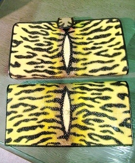 Stingray leather wallets, Sleman, Jogja, Indonesia.