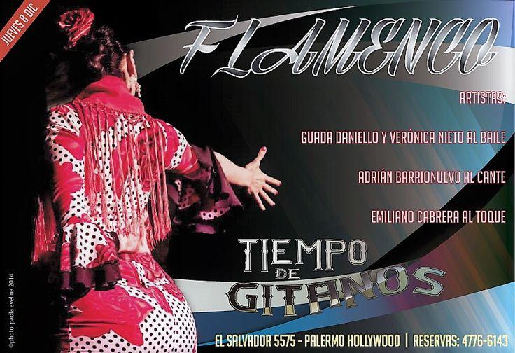 Este Jueves Feriado para disfrutarlo!!! Te esperamos a vos con amigos, compañeros, familia.. con todos para disfrutar de una noche única a puro flamenco!!! Reservas anticipadas al 4776 6143
