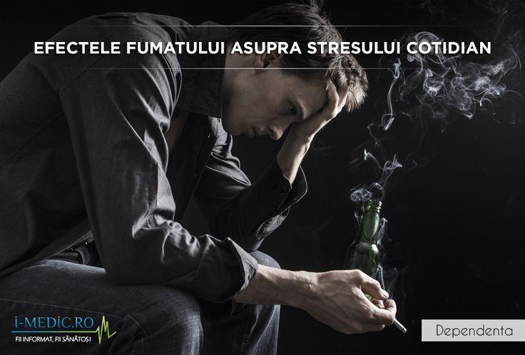 Intrebati care sunt motivele pentru care nu pot renunta la dependenta de tigari, cei mai multi dintre fumatori isi pot cuprinde motivele in liste intregi, printre cele mai frecvente fiind aliura inteligenta sau matura pe care acestia isi imagineaza ca o dobandesc, energia pe care tigara o ofera, ameliorarea senzatiei de singuratate, precum si combaterea stresului cotidian. http://www.i-medic.ro/tutun-alcool-droguri/efectele-fumatului-asupra-stresului-cotidian