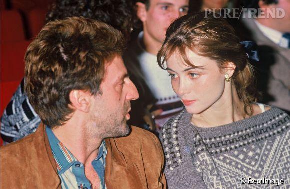 Daniel Auteuil et Emmanuelle Béart en 1986.