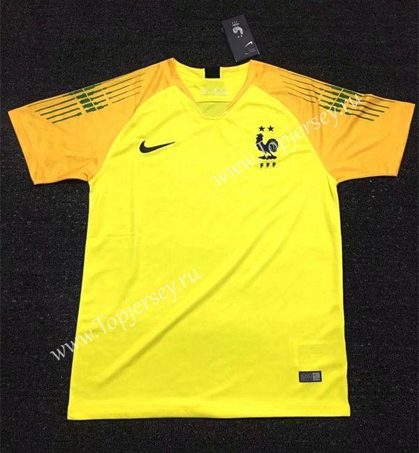 the latest 1281c cf8a9 2018-19 France 2 Stars Goalkeeper Yellow Thailand Soccer ...