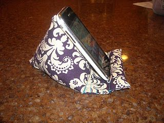 """How to make a pod pillow, could be also used for a nook, kindle, or ipad.  I made one this weekend for my Kindle that was just the big triangle part, but it definitely needs the """"stand"""" like this one has."""