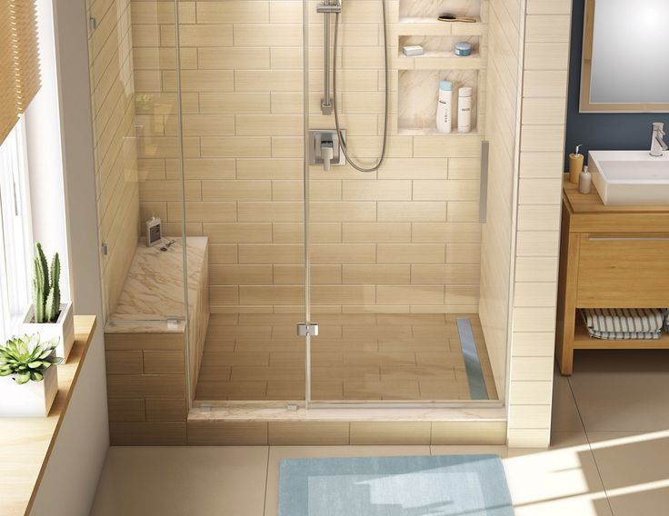 how to build shower pan with linear drain