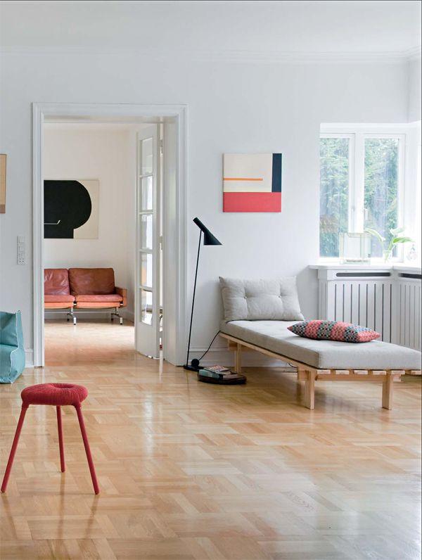 little bit of dull red: Homes Interiors Design, Design Homes, Living Rooms, Open Spaces, Modern Bathroom, Pallets Daybeds, Bathroom Idea, Color Palette, Bricks House