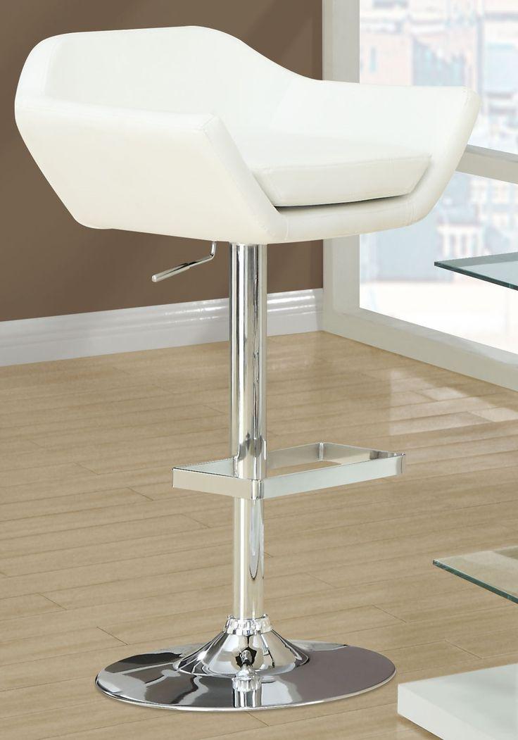 Monarch Specialties 2 Piece Hydraulic Lift Barstool White