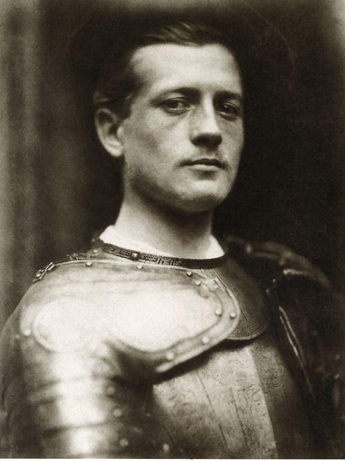 David Wilkie Wynfield,Portrait of unidentified man wearing armor, ca. 1860s.