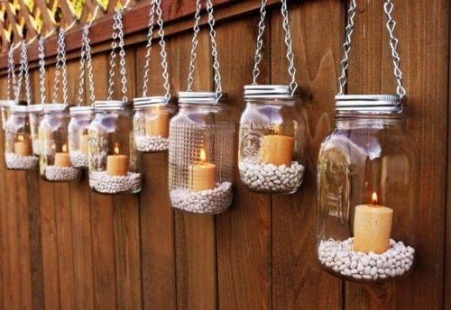 Garten Beleuchtung Ideen Windlicht Glas