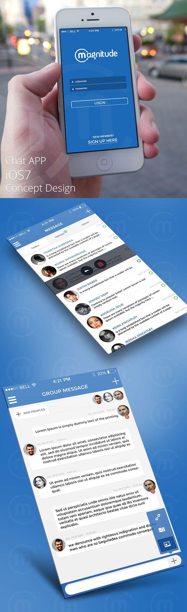 Chat APP iOS7 Concept Design