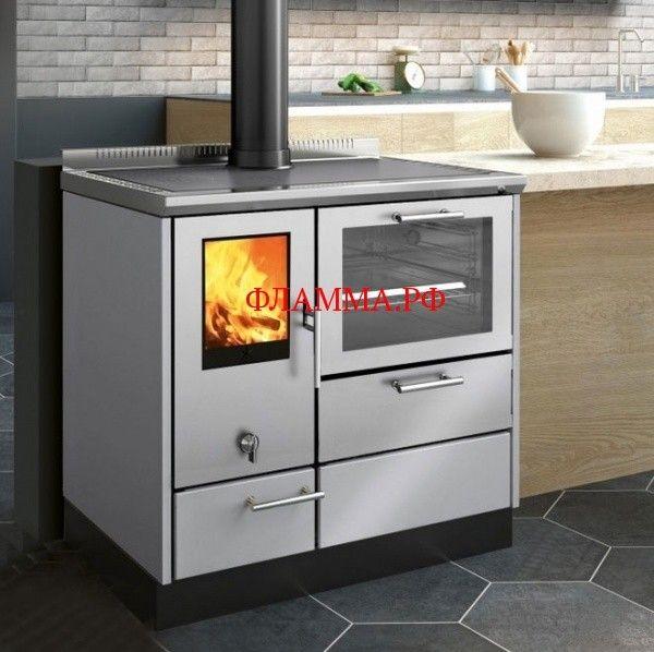 Печь-плита KE 90 W, нерж. сталь (EdilKamin) на печном складе ФЛАММА    ПЕЧЬ-ПЛИТА KE 90 W, НЕРЖ. СТАЛЬ (EDILKAMIN)   Отопительно-варочная печь-плита KE 90 W демонстрирует высокие технологии мировой отопительной индустрии вкупе с изысканным итальянским дизайном, надежностью и производительностью. Данная модель номинальной мощностью в 8 кВт обеспечивает очень высокий КПД в почти 78,6%, что гарантирует качественное отопление пространств до 210 м³.     Печь обладает очень высокой…