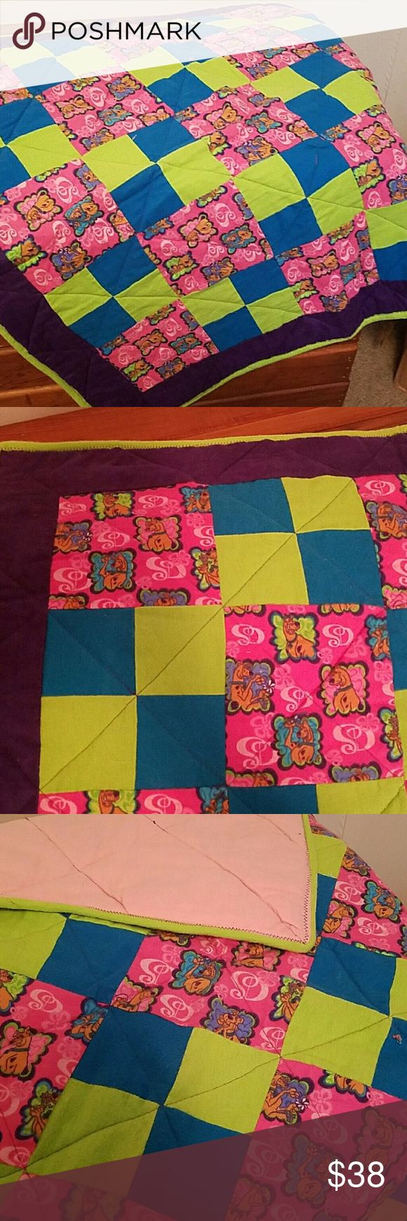 """Scooby-Doo baby blanket Handmade Scooby-Doo baby blanket/play pad. Flannel material.  Size: 32""""x63"""" Accessories"""