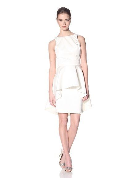 beautiful Christian Siriano Croc-Embossed Dress with Flounce