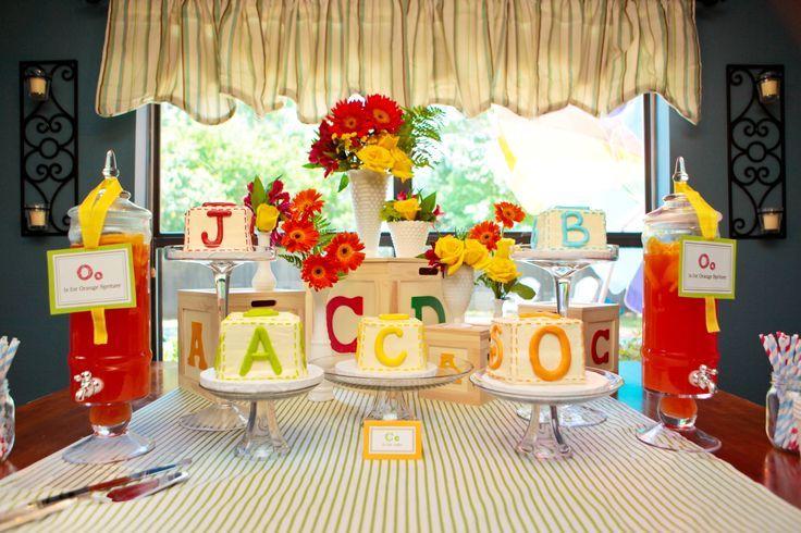 ABC Blocks Baby Shower | Alphabet block cakes (great baby shower theme!) | Showers