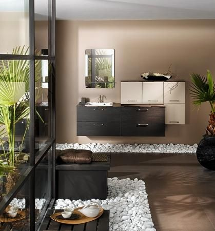 Les 25 meilleures id es concernant salle de bain marron for Salle de bain zen et naturelle