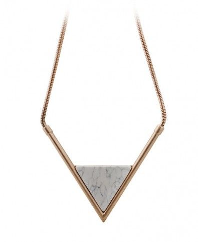 Short Triangle Pendant Necklace