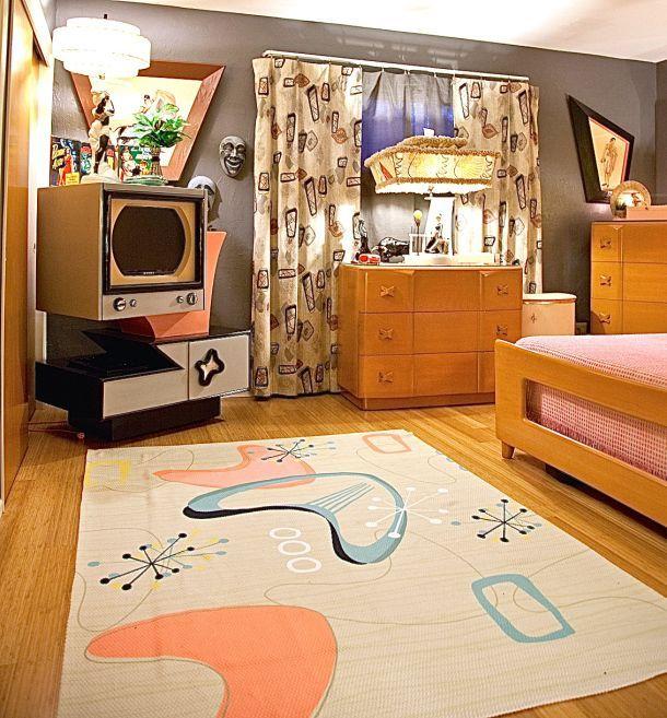 1950s 1960s Mid Century Modern Bedroom Retro Home Decor Ideas 1950s 1960s Midcenturymodern Midcentury Retro Bedrooms Retro Bedroom Ideas Bedroom Retro