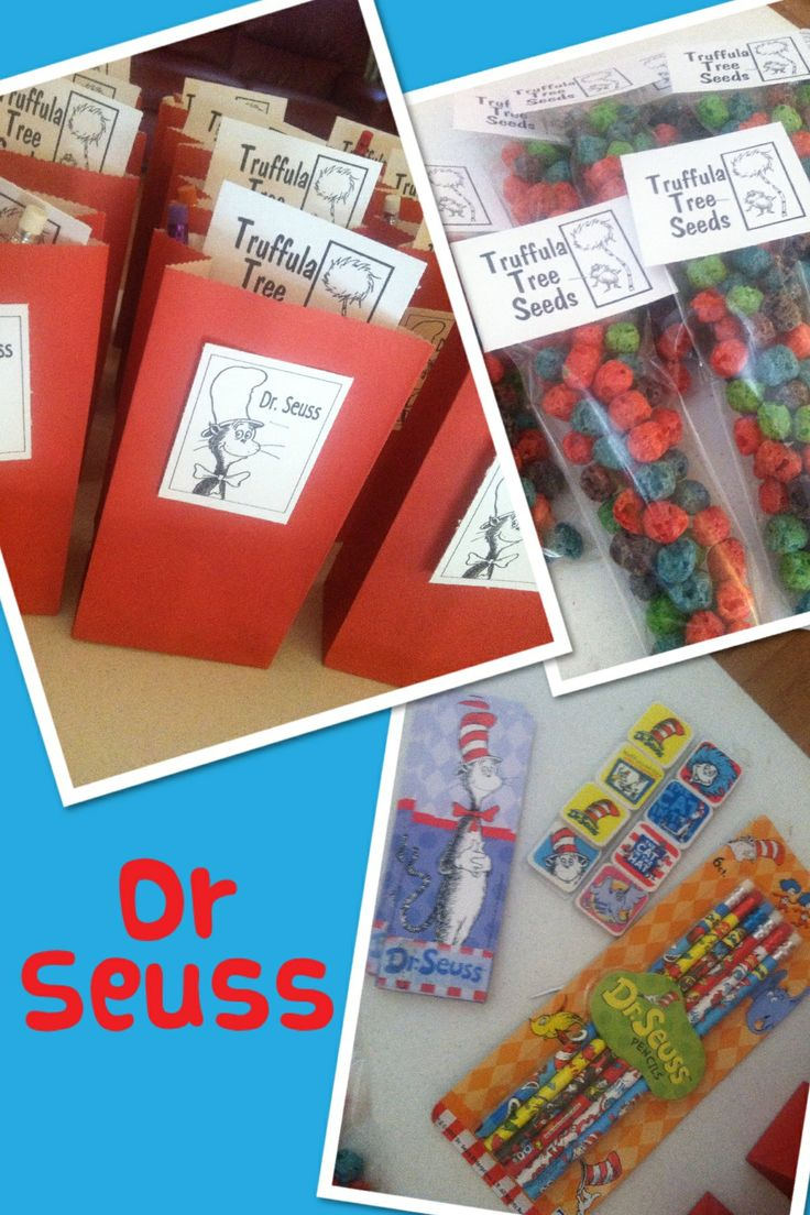Dr Seuss Classroom Treat Bag