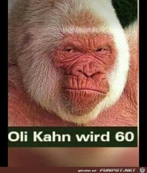 VORSICHT: FAKE Oliver Kahn wird am 15. Juni 2017 erst 48 Jahre alt.