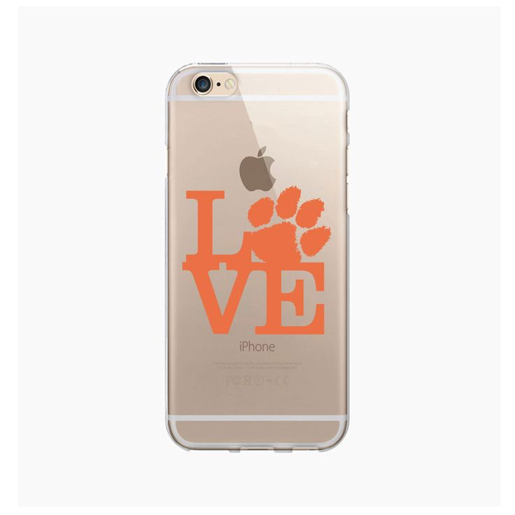 Clemson University Clear Phone Case, Love V1 - iPhone 6/6S