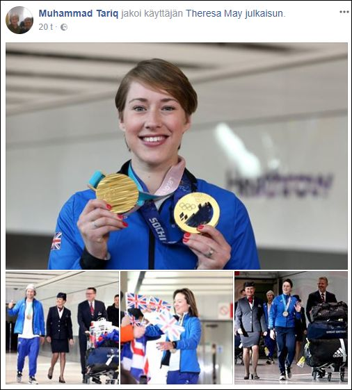 Welcome home Team GB with their record-breaking haul of medals from the Pyeongchang 2018 Winter Olympics. 🥇🥉🥉🥉🥉  Now let's all get behind Paralympics GB!