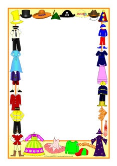 Dressing up costume A4 page borders (SB8225) - SparkleBox