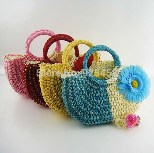 2014, Лето, Новый мешок соломы моды тканые сумки женщины тотализаторов пляжные сумки бесплатная доставка