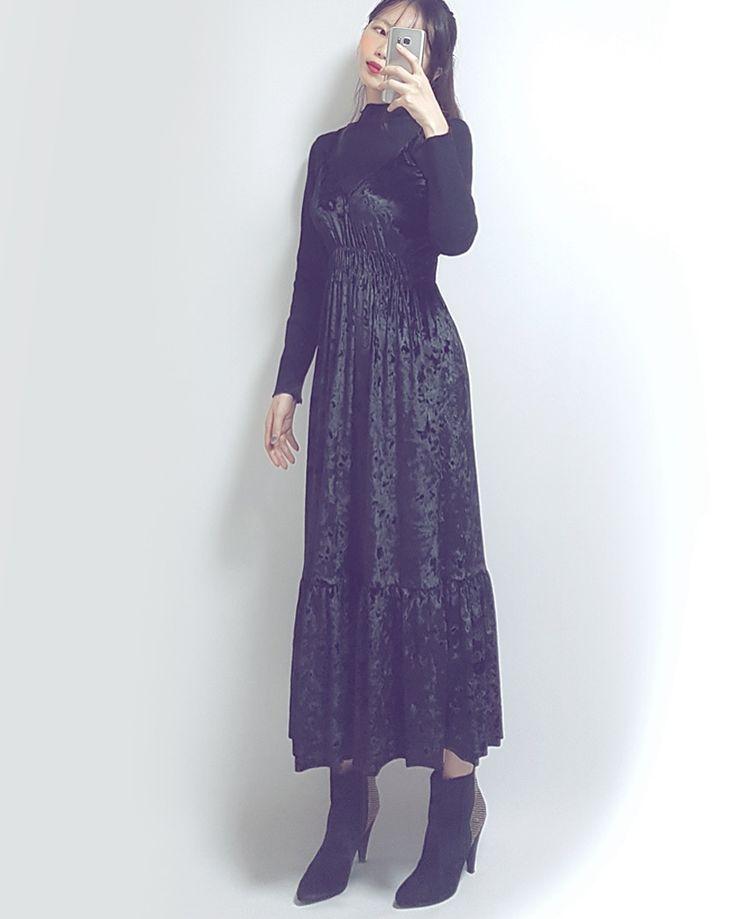 banetd 바냇디 korean shoppingmall naver storefarm  -- 2016fw fashion lookbook / velvet bustier frill long one-piece