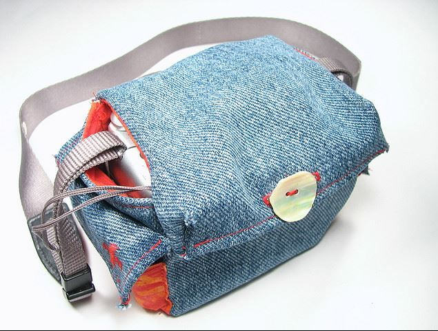 Make a Denim Camera Bag from Recycled Jeans