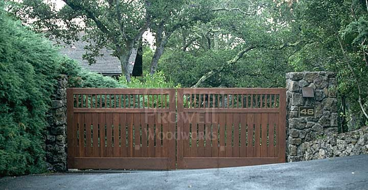 How to build a double swing wood gate woodworking