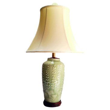 Check out this item at One Kings Lane! 1960s Asian Lamp & Shade