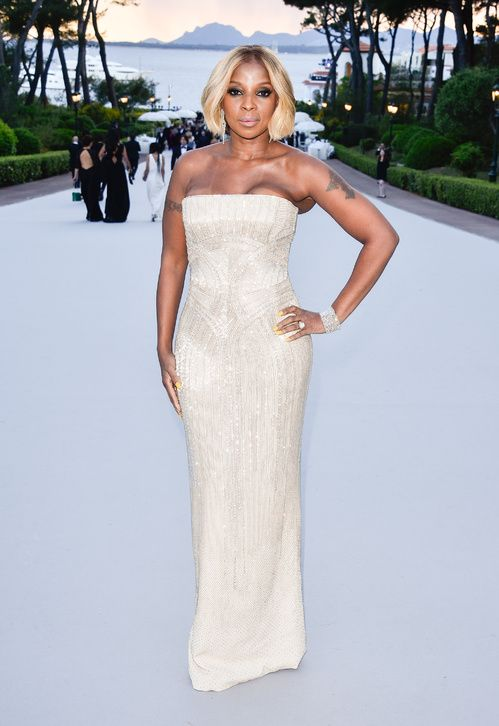 Mary J. Blige en robe Versace