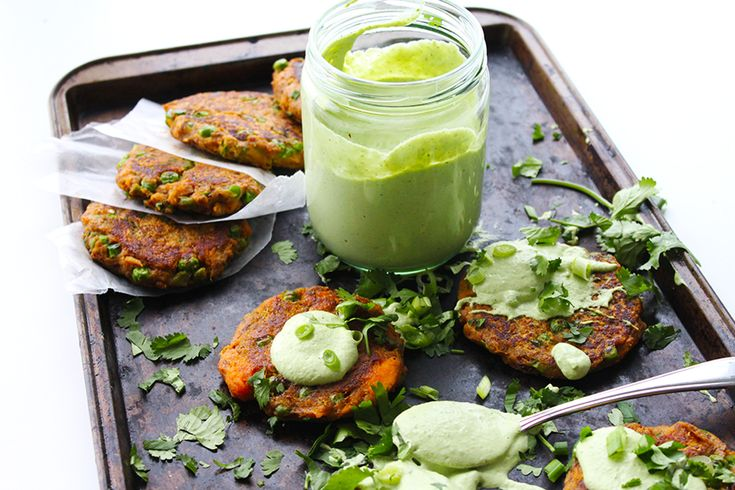 These sweet potato fritters are paired with a sweet, sour, and creamy cashew cream that does a solid job of taming the spicy green chilli.