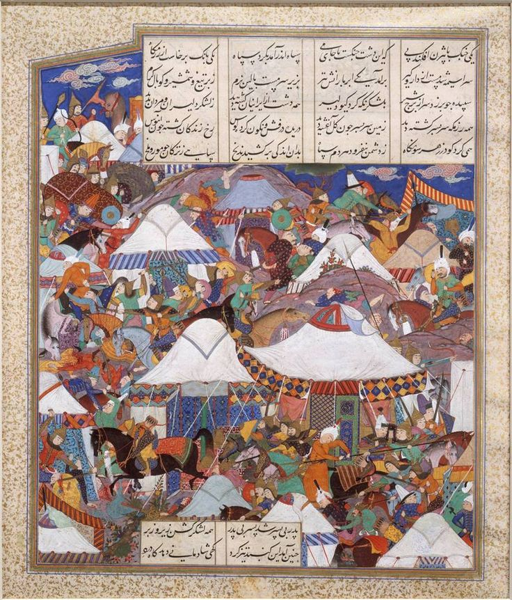 "The Shahnama (or ""Book of Kings"") narrates the history of the ancient kings of Iran, from their mythical beginnings to the Arab conquest in 651 A.D. Although illustrated copies of the poem were commissioned by numerous Iranian kings, the Shahnama of Shah Tahmasp (reigned 1524-1576) is arguably the most important and beautifully-illustrated version ever produced. Characterized by calligraphy, painting, and illuminations of exquisite quality and artistic originality."