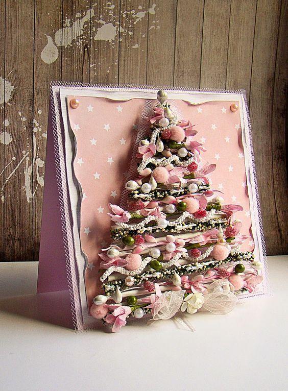 елки для открыток скрапбукинг знаете