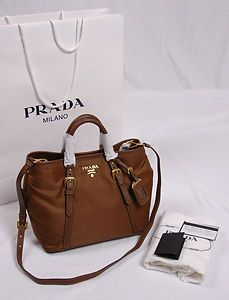 NWT Prada Tessuto Vitello Daino Nylon Leather Satchel Crossbody ...