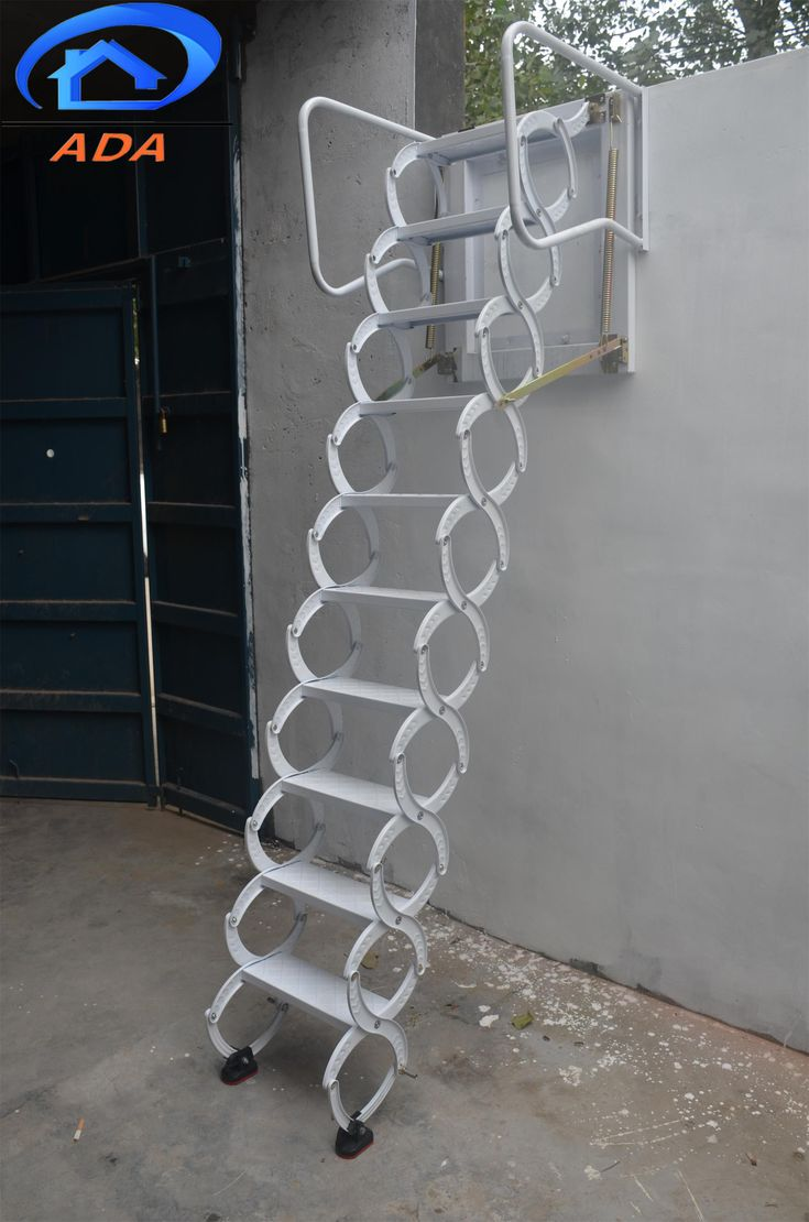 Folding Attic Stairs Wall Mounted Ladder גגון In 2019