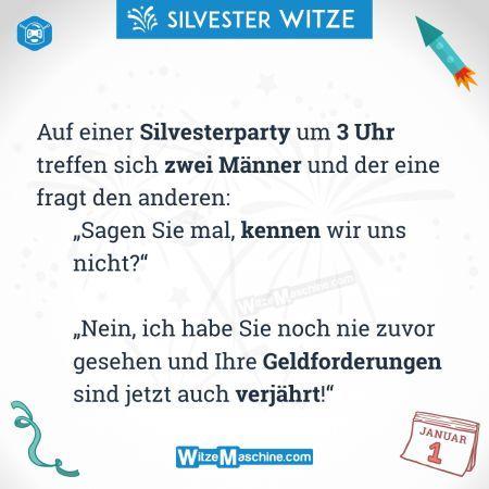 Silvesterwitze neujahrswitze lustig verj hrt witze - Pinterest witze ...