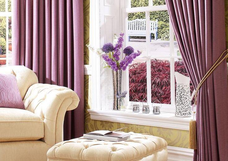 Gemma - Lavender, Pencil Pleat Curtains http://www.plumbs.co.uk/fabric-range/fabric-details/gemma/