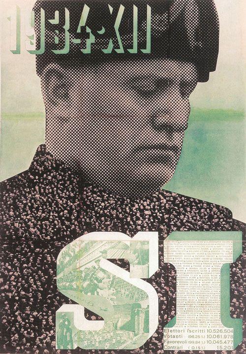 Xanti Schawinsky, Si, 1934, Poster: letterpress, 90 x 70 cm