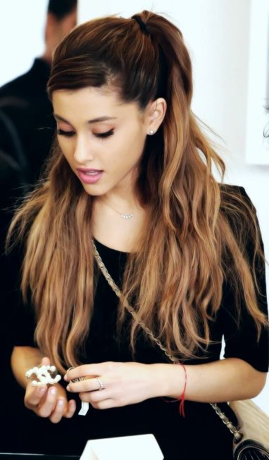 Ariana Grande, love her, especially on YouTube :) so casual